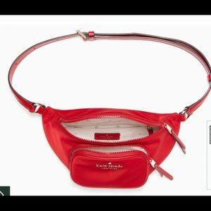 Kate spade belt bag RED